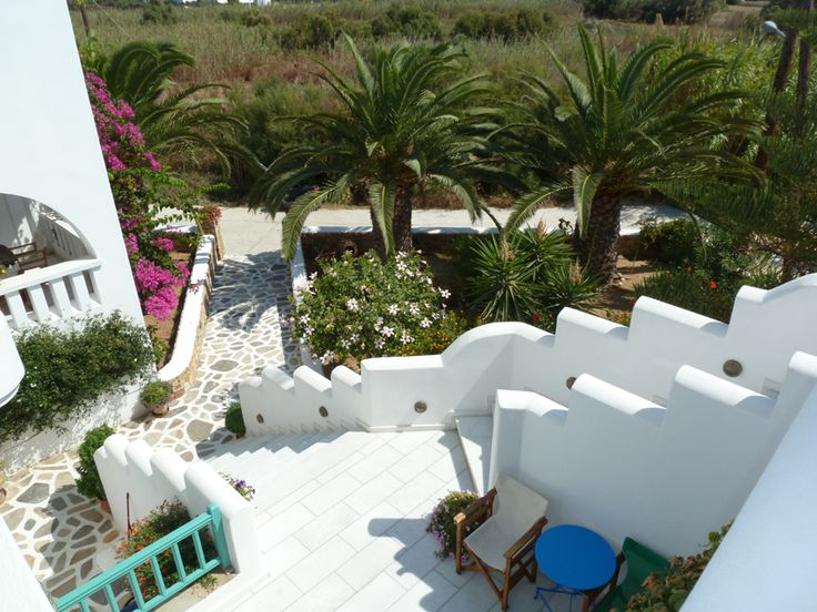 front garden of Villa Naxia, Naxos, Greece