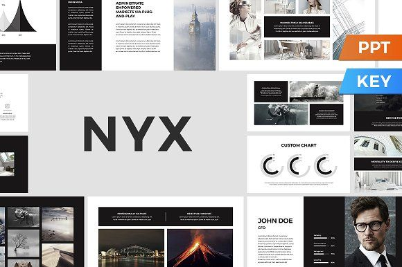 Nyx Presentation Template by SlideStation on @creativemarket