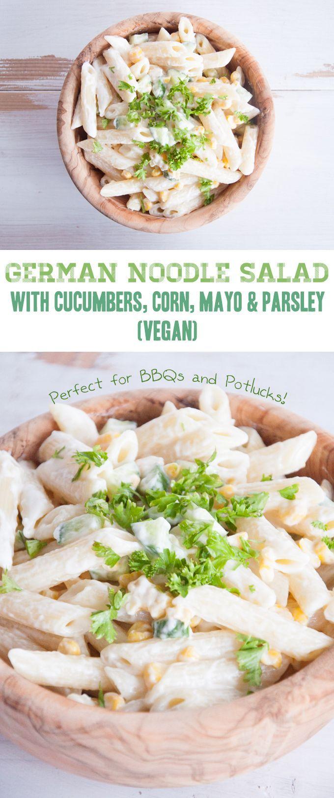 Vegan German Noodle Salad | Scratch the corn, and I'm IN! | ElephantasticVegan.com