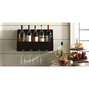 5-Bottle Wine and Glass Holder : Target