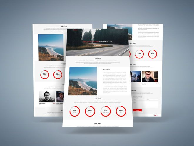 Lander : Free Cool One Page HTML5 Template