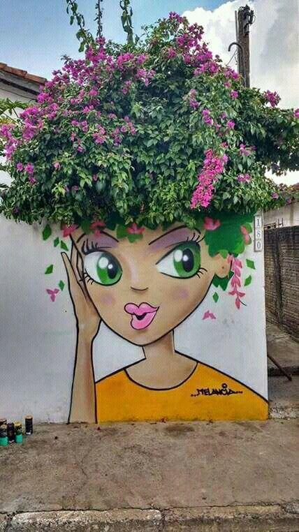 Street art por Melancia, en Brasil