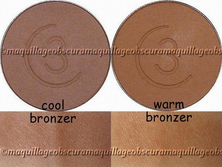 Bronzer example for cool/warm skin tones Makeup Pinterest