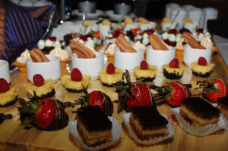 Desert table at the Friday night tasting stations