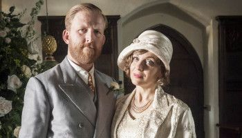 MR SELFRIDGE: TOM GOODMAN HILL as Mr Grove and AMANDA ABBINGTON as Miss Mardle