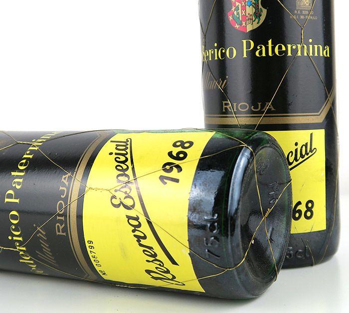 1968 Rioja Paternina Reserva Especial Gran Reserva - 2 botellas  2 flessen Paternina Reserva Especial 1968 Gran Reserva (75 cl).Kocht in Paternina Heurigen in 1996.Opgeslagen in privé kelder tot vandaag.Een beperkte oplage van 7.220 flessen. Gevinifieerd voor 18 maanden in grote houten kuipen vanaf de oprichtende het wijngoed in 1896 zonder temperatuurregeling. Gegoten op vat en leeftijd van 84 maanden 7 jaar. 14 keer eenmaal per 6 maanden met de traditionele methode van de vat-naar-vat…