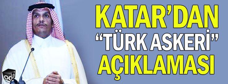 """Katar'dan """"Türk askeri"""" açıklaması"""