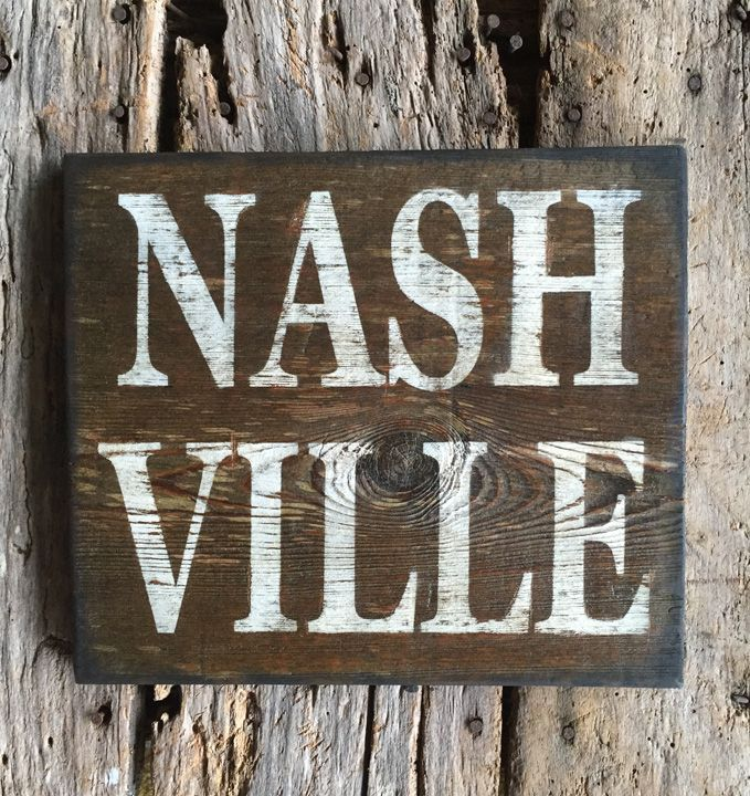 NASHVILLE Reclaimed Wood Sign We hand painted NASHVILLE on some beautiful  reclaimed barn wood aged over - 35 Best Tennessee Images On Pinterest Tennessee, Hand Painted
