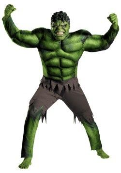 Adult Avengers Hulk Muscle Costume