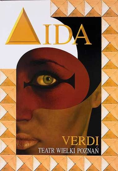 Aida opera poster by Jean Antoine Hierro
