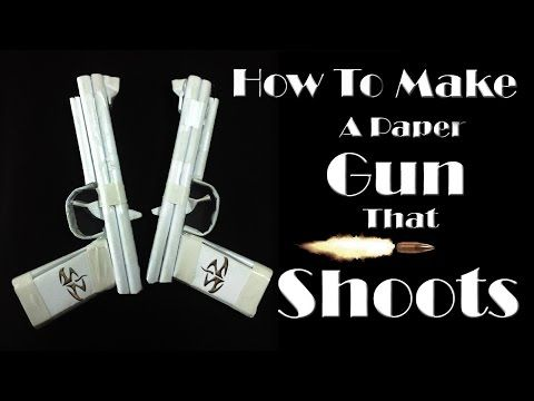 how to make a paper gun instructions