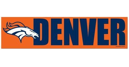 Denver Broncos Decal Bumper Sticker