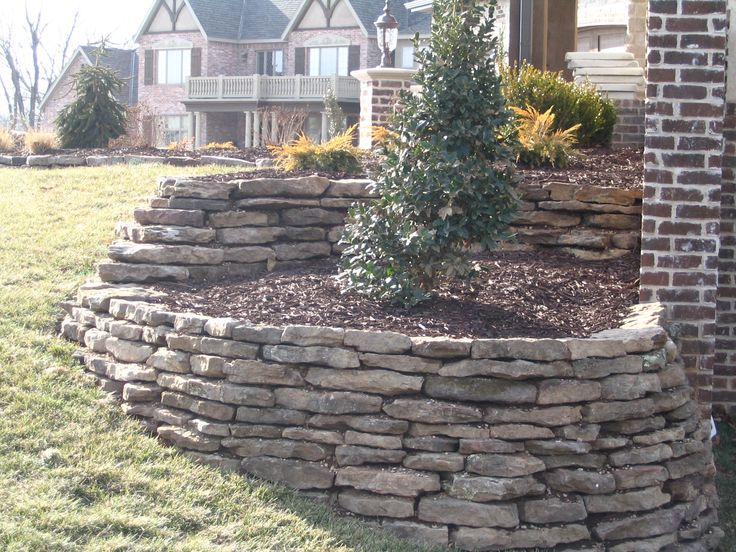 retaining rock wall with creativity