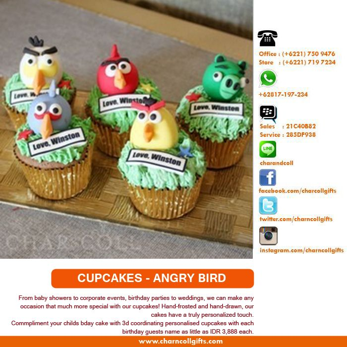 Commpliment your childs bday cake with 3d coordinating personalised cupcakes | Order: http://ow.ly/rm7xA