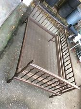 Folding Primitive Victorian Antique Children's Youth Bed Wood & Metal