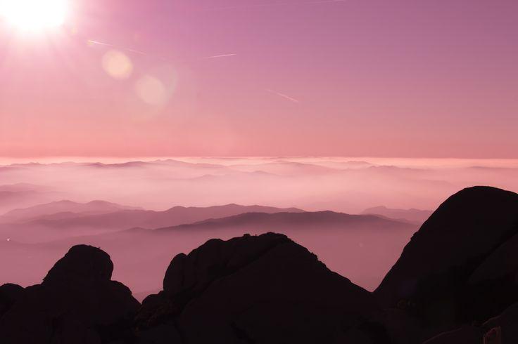 Desde lo más alto de Montserrat, Catalunya, España