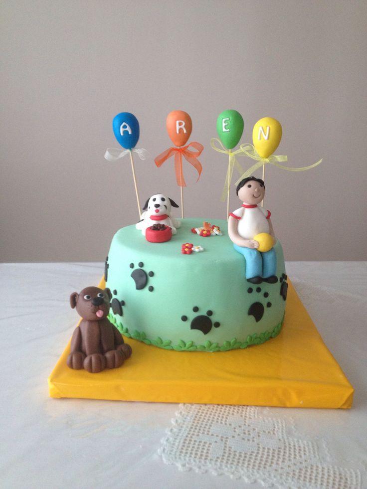 Fondant dog dog cake