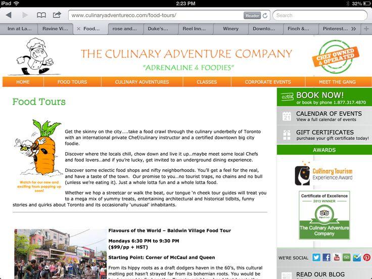 Culinary food tour company