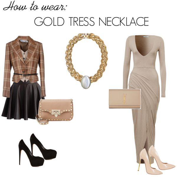 Gold tress necklace