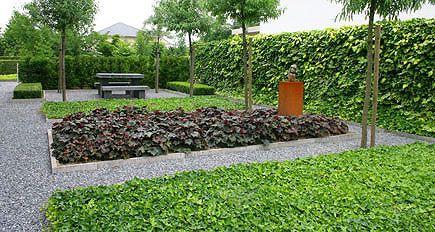 Afbeeldingsresultaat voor tuinaanleg zonder gras