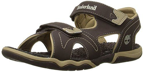 Timberland Adventure Seeker Two-Strap Sandal (Little Kid),Brown/Tan,13 M US Little Kid