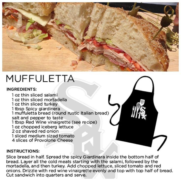 Try making @Chicago White Sox Chef Olegario's version of a muffuletta.