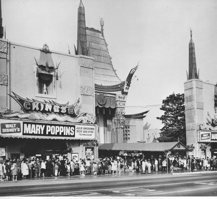 1964 Mary Poppins playing at Grauman's Chinese Theater