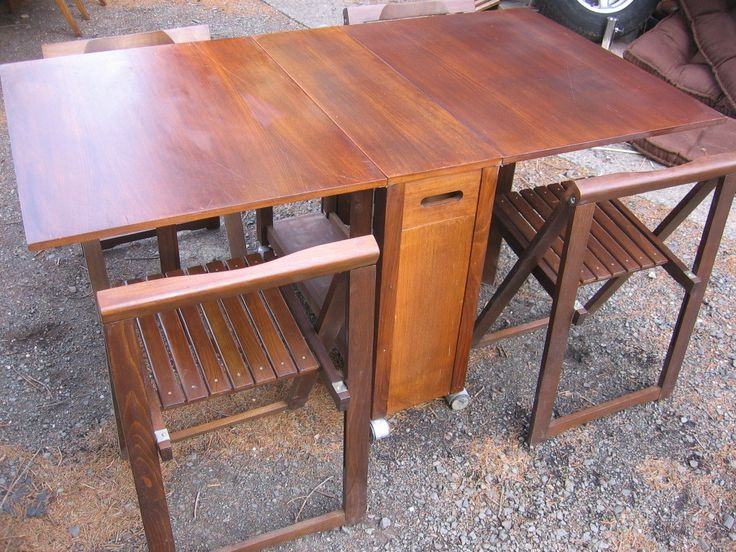 Drop Leaf Table With Hidden Chairs Interior Design Ideas