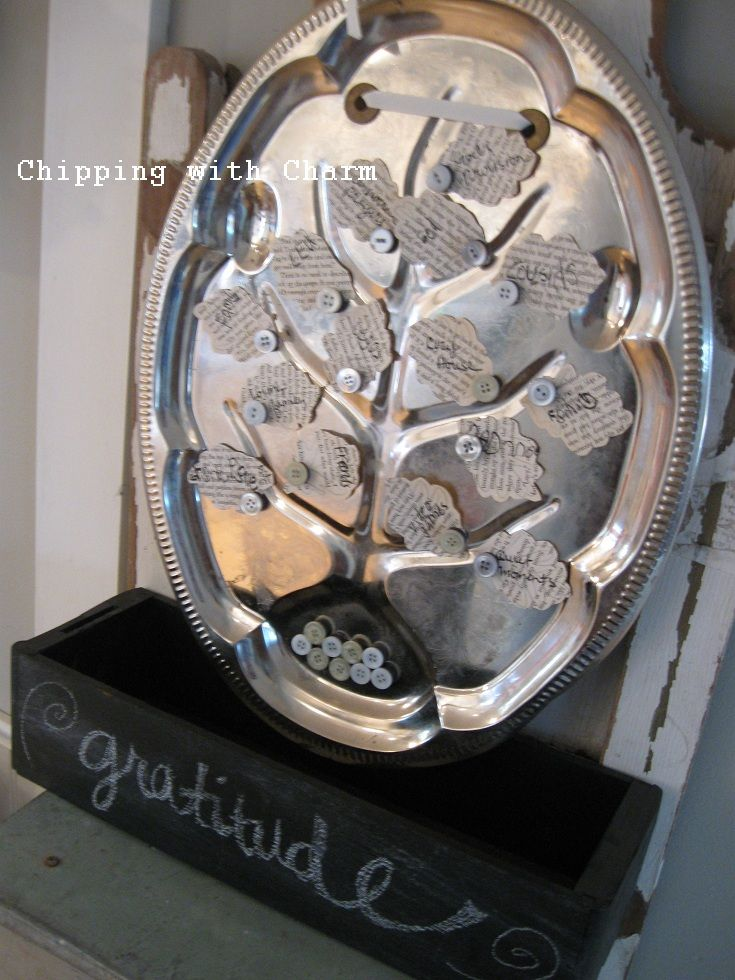Chipping with Charm: A Tree of Gratitude...a new Thanksgiving tradition...