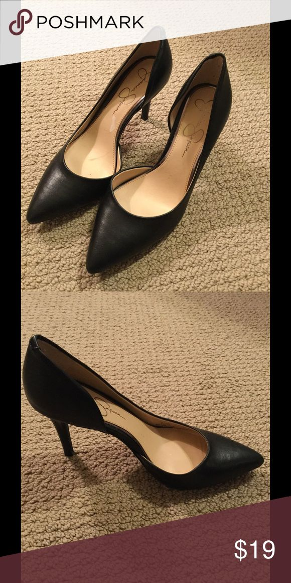 Jessica Simpson Black Pumps Perfect basic pump to wear with any outfit. Man made upper. Only worn once. Jessica Simpson Shoes Heels