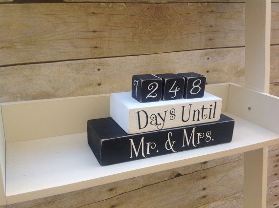 Wedding Countdown - Countdown Blocks - Wedding Gift - Bridal Shower ...