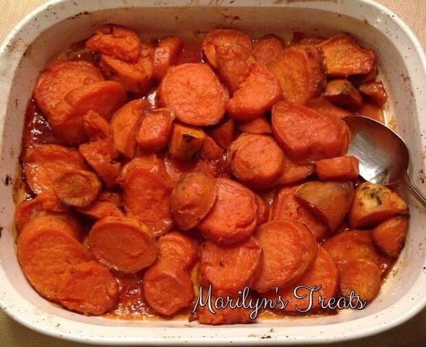 Maple Roasted Sweet Potatoes ~These Maple Roasted sweet potatoes are the perfect addition with any main dish. They are low in calories and a healthy option.