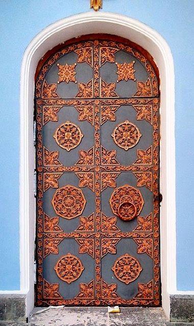 Door with luxury architecture in Kharkov, Ukraine.
