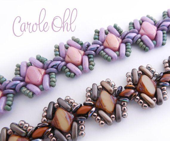 Silky Hugs Bracelet Pattern by Carole Ohl by openseed on Etsy