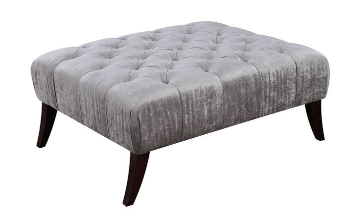 Josephine Tufted Single Layer Ottoman. Impart your elegant taste throughout your home with the addition of this classic, button-tufted ottoman in a neutral grey, synthetic fabric. The subtle color complements traditional decors while the rectangular shape gives it a decidedly modern edge. Comes in a beautiful looking gray color Use it as a contemporary ottoman, coffee table, or anything else you can think of. Keep yourself or guests happy by having this ottoman around Made out of...
