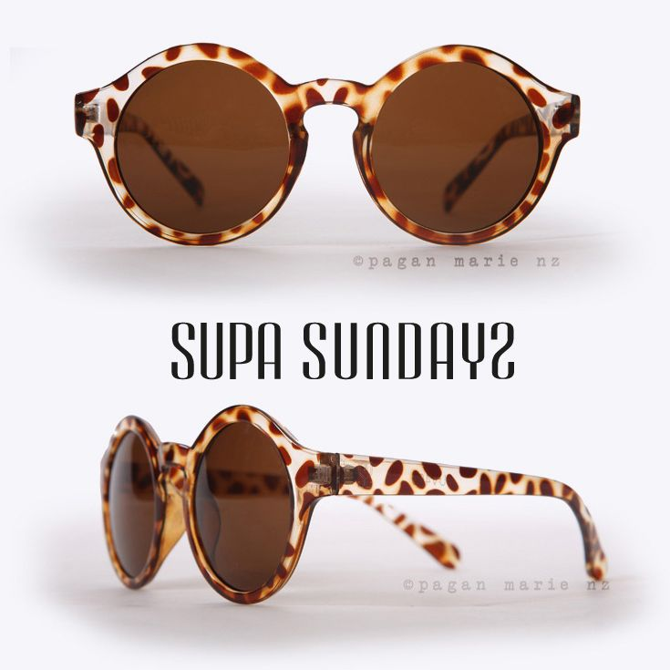 Supa Sundays Nora Demi Brown Sunglasses from @paganmarienz