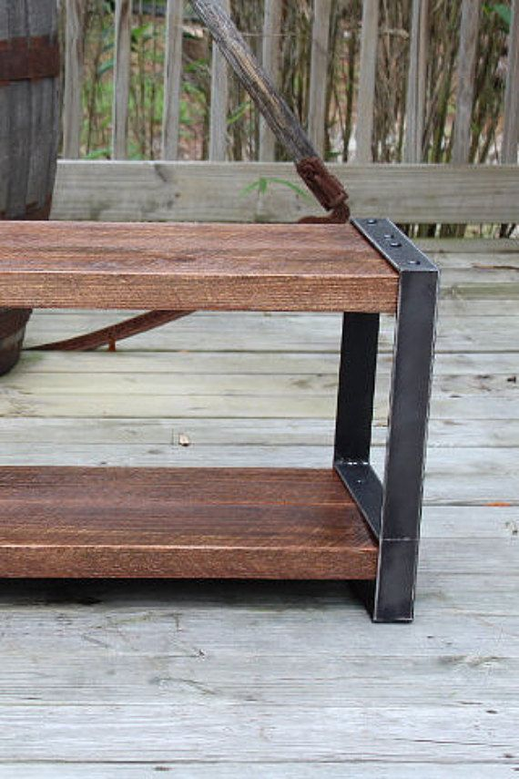 Wood and metal bench, Reclaimed wood bench, Industrial bench,Console,Entryway bench, Rustic bench, Barn wood, bench