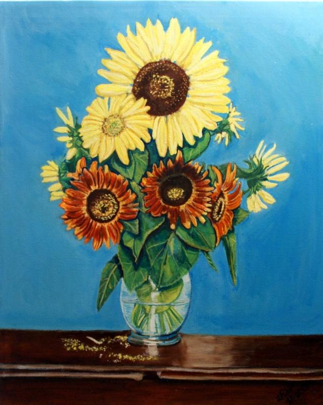 Sunflowers - oil on canvas