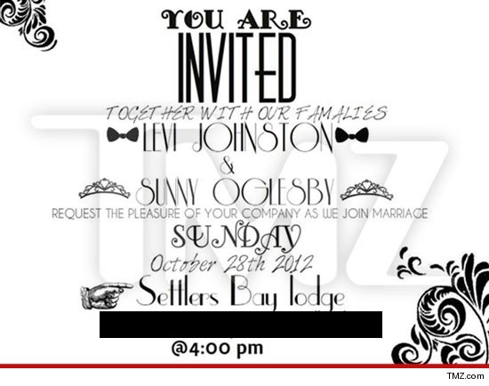 Levi Johnston's wedding invite...wow...