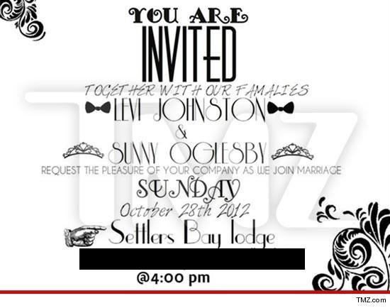 Levi Johnston's wedding invite...wow...
