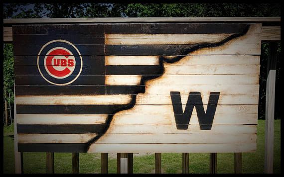 Chicago Cubs Flag Chicago Cubs Banner Chicago Cubs Sign