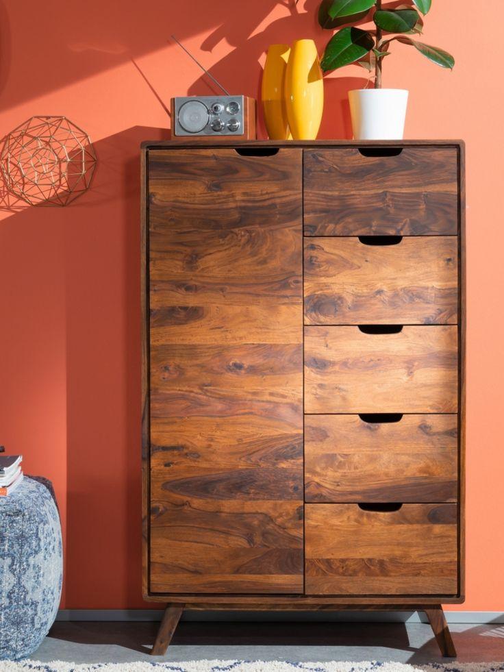 Moderne Kommode aus Sheesham - Möbel - Serie • MALMÖ 2