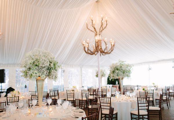 Pretty White Tented Wedding Reception | photography by http://www.justinebursoni.com