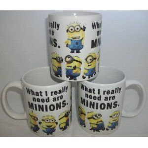 What I really Need Are Minions Ceramic Mug Tasse Becher...oh my gosh... I NEEED this *___*