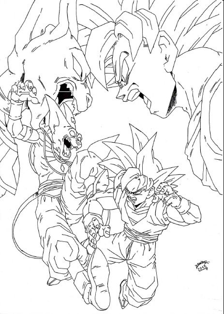 dragon ball z battle of gods coloring pages dragon ball z wikipedia the free encyclopedia dragonball - Dragon Ball Coloring Pages Goku