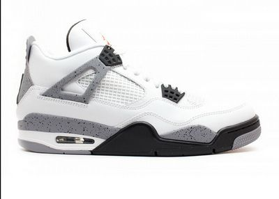 Air Jordan Retro 4 ( White / Cement Grey / Black )