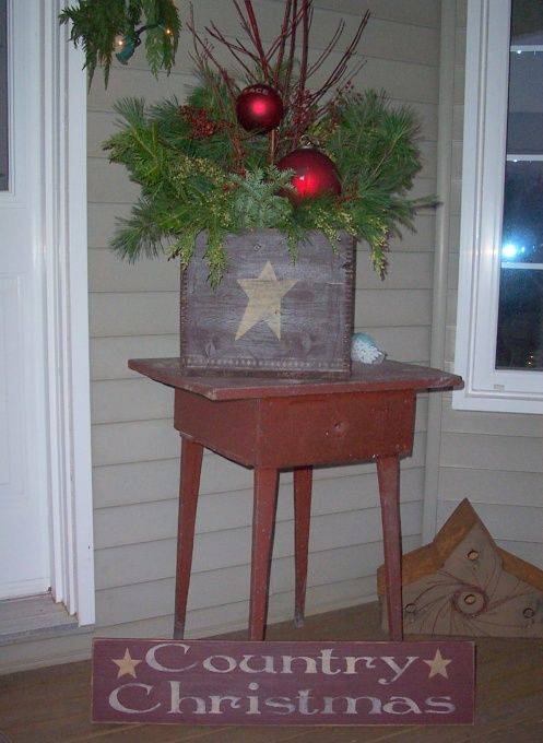 Country Christmas Decorations For Front Porch : Christmas porch decorations i am loving living in the