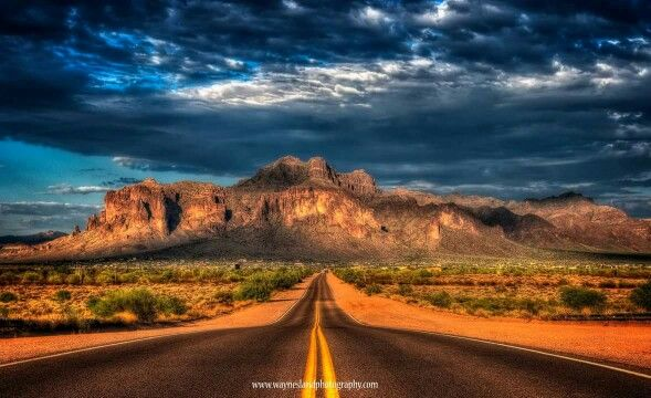 Road to the Superstition Mountains, AZ