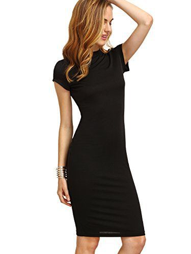 New Trending Formal Dresses: MakeMeChic Womens Short Sleeve Classy Solid Stretchy Pencil Dress Black S. MakeMeChic Women's Short Sleeve Classy Solid Stretchy Pencil Dress Black S   Special Offer: $13.99      177 Reviews Size Chart: X-Small: Shoulder: 13.0 inch, Bust: 29.3 inch, Waist: 24.6 inch, Length: 40.6 inch Small: Shoulder: 13.4 inch, Bust: 30.9 inch, Waist: 26.2 inch, Length:...