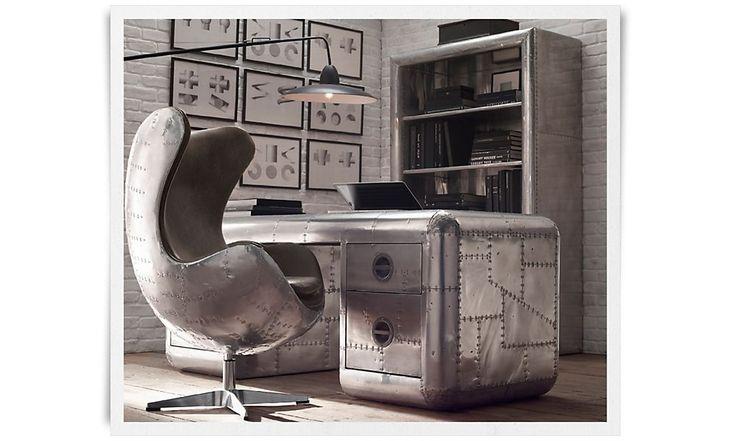 home office restoration hardware the study pinterest